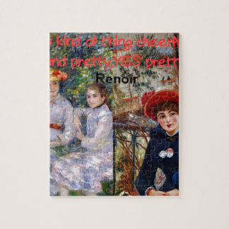 Renoir painting with his quote puzzle