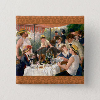 Renoir Party French Painting Art Button
