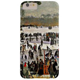 Renoir - patinadores en el Bois de Boulogne-1868 Funda Barely There iPhone 6 Plus