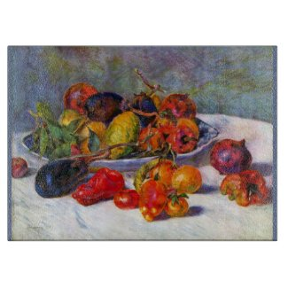 Renoir Peppers, Eggplant, Tomatoes Cutting Board