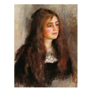 """Renoir """"Portrait of Julie Manet"""" Postcard"""