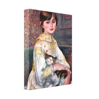 Renoir - Portrait of Mademoiselle Julie Manet Canvas Print