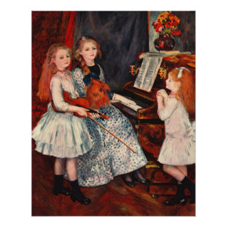Renoir - Portrait of the daughter of Catulle-Mende Poster