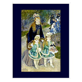 "Renoir - ""promenade"" del La Tarjeta Postal"