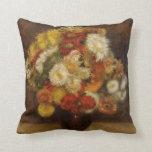 Renoir: Ramo de crisantemos Cojin