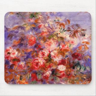 Renoir Rosas por la ventana Tapetes De Ratón
