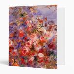 Renoir: Roses by the Window 3 Ring Binder