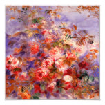 """Renoir: Roses by the Window 5.25"""" Square Invitation Card"""