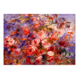 Renoir: Roses by the Window Large Business Card