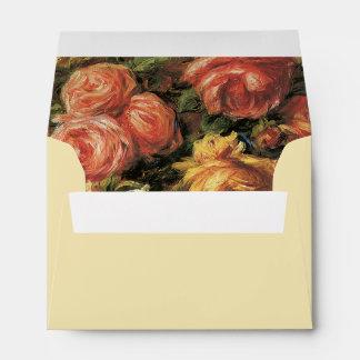 Renoir Roses Envelopes A6
