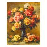 Renoir Roses in a Vase Invitations
