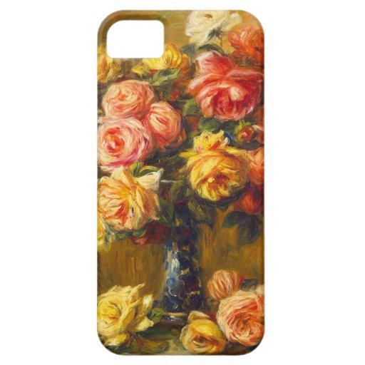 Renoir Roses in a Vase iPhone 5 Case