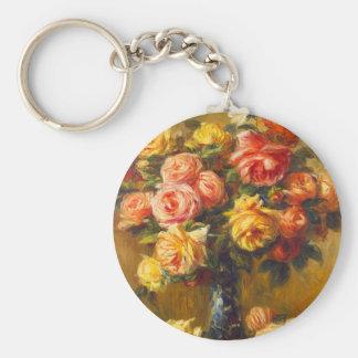 Renoir Roses in a Vase Key Chain