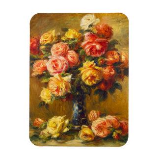 Renoir Roses in a Vase Magnet