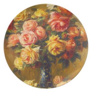Renoir Roses in a Vase Plate