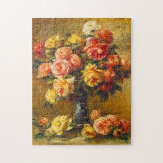 Renoir Roses in a Vase Puzzle
