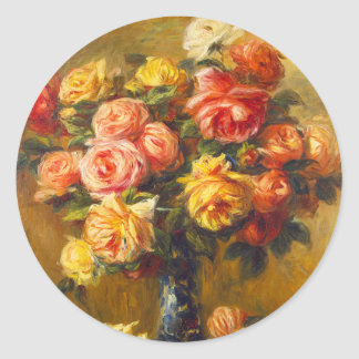 Renoir Roses in a Vase Stickers