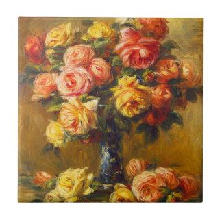 Renoir Roses in a Vase Tile