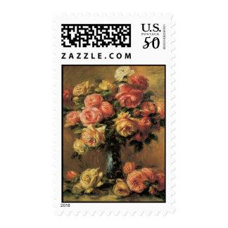 Renoir Roses Postage Stamps