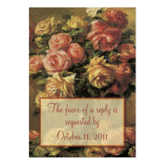 Renoir Roses Wedding RSVP Reply Card