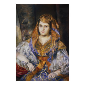 Renoir - señora Clementine Stora en vestido argeli Poster