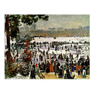 Renoir - Skaters in the Bois de Boulogne-1868 Postcard