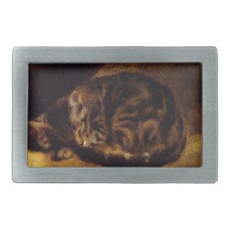 Renoir Sleeping Cat Belt Buckle