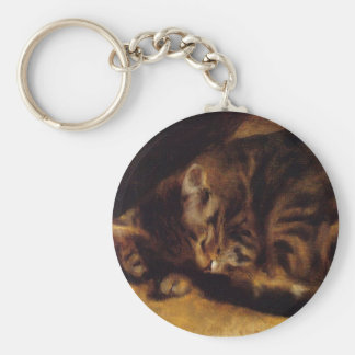 Renoir Sleeping Cat Key Chain