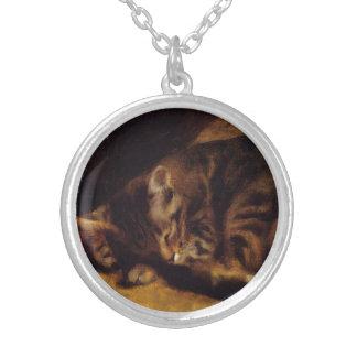 Renoir Sleeping Cat Necklace