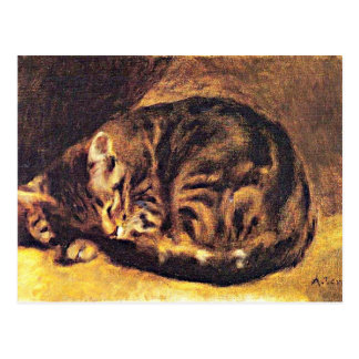 Renoir: Sleeping Cat Postcard
