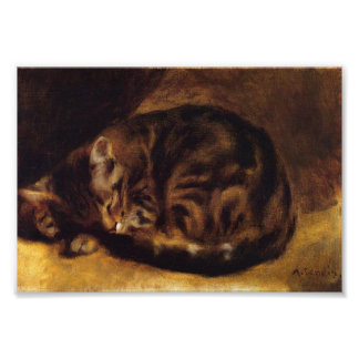 Renoir Sleeping Cat Print