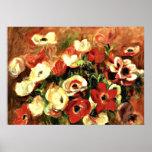 Renoir - Spray of Anemones Poster