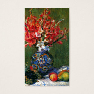 Renoir still life Flowers and Fruit art painting Business Card