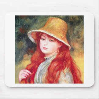 Renoir Straw Hat Mouse Pad