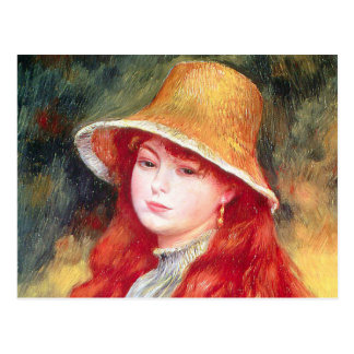 Renoir Straw Hat Postcard