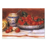 "Renoir: Strawberries 5"" X 7"" Invitation Card"