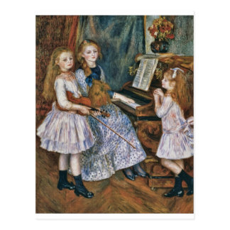 Renoir The Daughters of Catulle Mendès Postcard