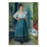 Renoir, The Laundress Poster