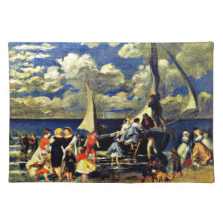 Renoir: The Return of the Boating Party (1862) Cloth Placemat