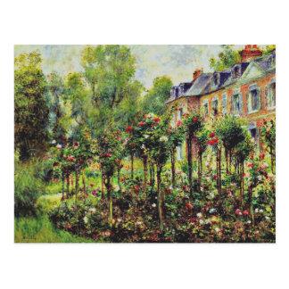 Renoir - The Rose Garden at Wargemont-1879 Postcard