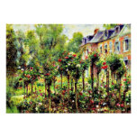 Renoir - The Rose Garden at Wargemont Poster