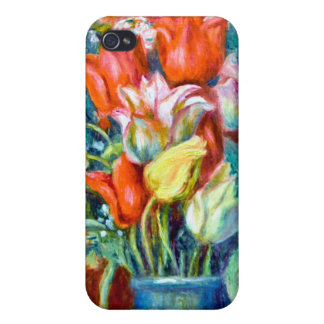 Renoir Tulips Cases For iPhone 4