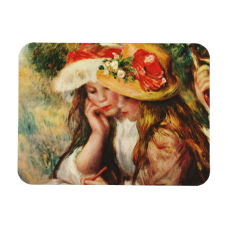 Renoir Two Girls Reading in the Garden Magnet