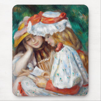 """Renoir, """"Two Girls Reading"""" Mouse Pad"""