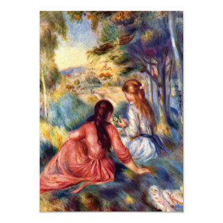 Renoir: Two Girls Sitting in Grass Card