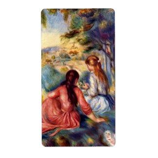 Pierre-Auguste Renoir: Two Girls Sitting in Grass