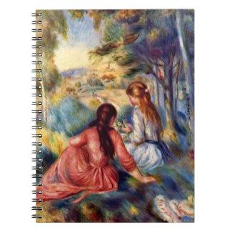 Renoir: Two Girls Sitting in Grass Notebook
