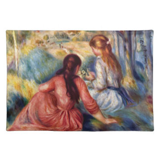 Renoir: Two Girls Sitting in Grass Placemat