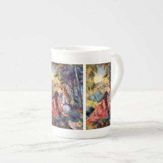 Renoir: Two Girls Sitting in Grass Tea Cup