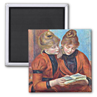 Renoir: Two Sisters 2 Inch Square Magnet